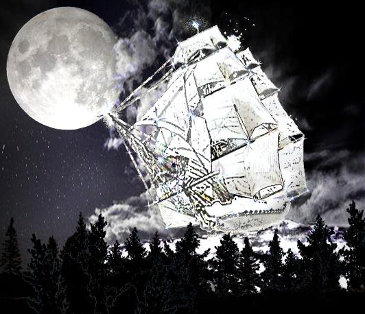 Moon's Ship sailing the Sky